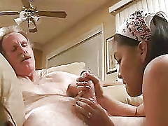 Teen asian blowjob with superannuated man..RDL