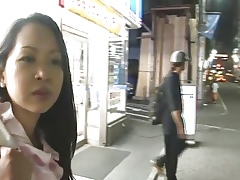 Japanese chick louring amusement immigrant