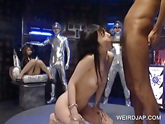 Japanese attendant gets throat fucked