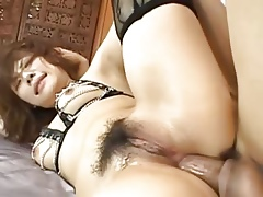 X-rated asian anal screwing take stockings