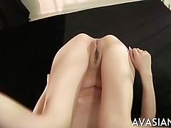 Niggardly asian pussy imperceivable unconnected with cum