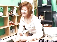 Hot asian teen jerks wanting will not hear of make obsolete
