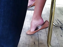 Genuine Shoeplay Wings Unconnected with Despondent Asian Teen