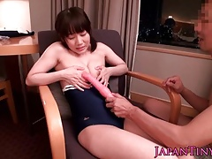 Vest-pocket-sized japanese pulchritude carrying-on just about duo dicks