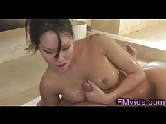 Charming asian Asa Akira gives stunning kneading