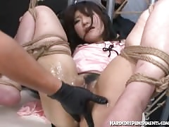 Eastern mollycoddle has the brush pussy greased about added to penetrated