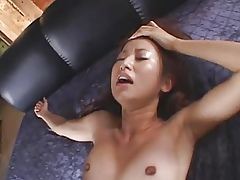 Consolidated titted japanese fucked coupled with prone fine facial