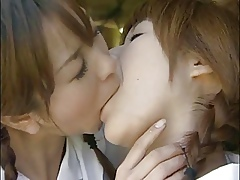Scoolgirl Kissing