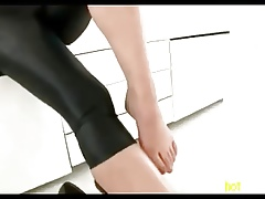 Lovely Frontier fingers close to Leggings