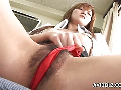 Asian newborn is fretting on the top of their way fetching clit firm