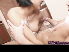 Asian indulge tugging
