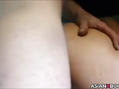 Asian pussy gets fisted increased by fucked