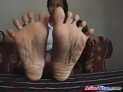 Adorable Asian Girls Limbs Patch up On touching POV