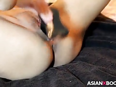 Asian coddle toys the brush cunt